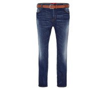 Scube Relaxed: Used Stretch-Jeans blau