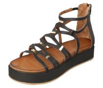 Plateau-Sandale mit Riemchen schwarz