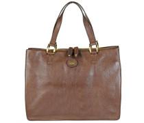 Leder Handtasche 'Saddlery Donna' 35 cm braun