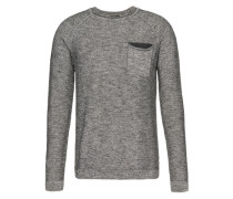 Pullover 'Carrier' mit Brusttasche grau