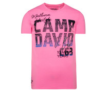 T-Shirt mit Photoprint Logo pink
