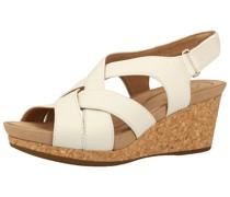 Sandale naturweiß