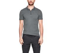 Slim: Poloshirt mit Wascheffekt
