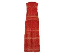 Sommerkleid mit Allover-Print orangerot