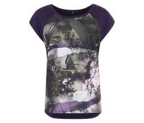 Shirt mit Fotoprint lila
