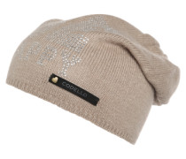 Beanie 'Be Happy' beige