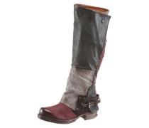 Stiefel grau / rot