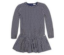 Kleid mit Blümchenmuster blau