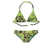 Triangel-Bikini braun / grün