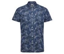Regular Fit-Kurzarmhemd blau