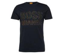 T-Shirt mit Label-Print 'Tacket 5' dunkelblau