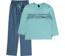 Schlafanzug blau / türkis