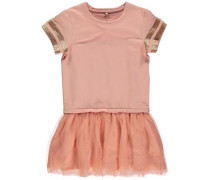 Kleid mit kurzen Ärmeln orange