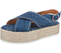Sandaletten beige / blau