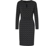 Kleid hellgrau / schwarz