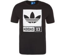 T-Shirt mit Logoprint schwarz / weiß