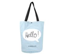 Shopper 'Hello' hellblau