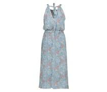 Midi Kleid luftig in einem Blauton