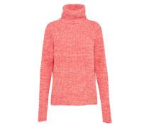 Pullover mit Rollkragen koralle / weiß
