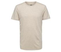 T-Shirt Rundhalsausschnitt- beige