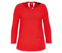A-Linien-Pullover mit Rückenschleife rot