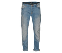 Slim Fit Jeans 'Loom light blue breaks' blue denim