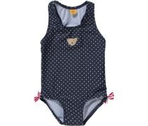 Baby Badeanzug mit UV-Schutz für Mädchen blau / hellrot / weiß