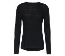 Langarmshirt mit Leinen-Anteil 'Conyn' schwarz