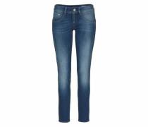 'Gila' Skinny Jeans mit Used Effekten blue denim