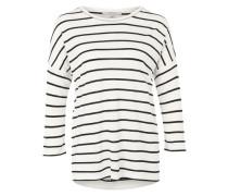 T-Shirt mit überschnittenen Schultern weiß / schwarz