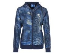 Windbreaker mit Allover-Print blau