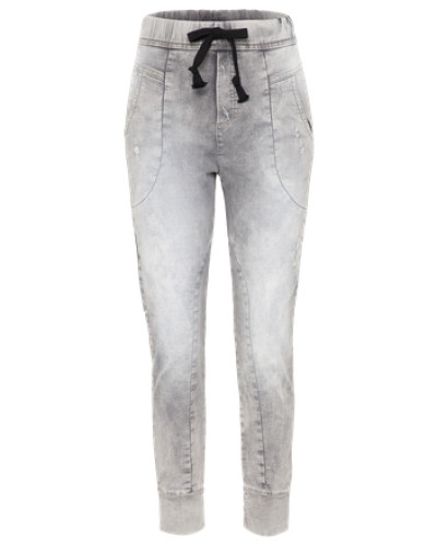Verwaschene Jeans 'Trousers' grey denim