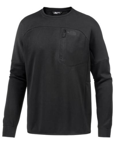 'Mountain Slacker Crew' Funktionssweatshirt schwarz
