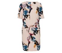 Kleid mit Halbarm mischfarben / pink