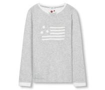 Sweatshirt mit USA Flagge grau