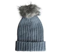 Bommel-Mütze taubenblau