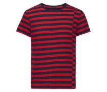 Gestreiftes T-Shirt blau / rot
