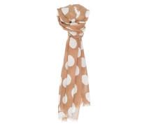 Schal 'Apple scarf Boa' beige / weiß