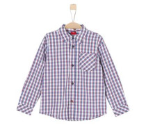 Kinder Langarmhemd REG blau / rot / weiß