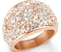 Ring mit Swarovski Kristallen rosegold