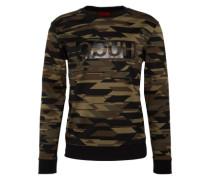 Sweatshirt mit Camouflage-Muster 'Driggs' dunkelgrün