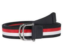 Gürtel dunkelblau / weiß / rot