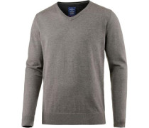 V-Pullover Herren grau