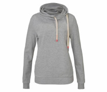 Sweatshirt graumeliert / pink / puder