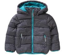 Winterjacke für Jungen türkis / grau