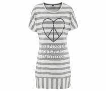 Nachthemd grau / weiß