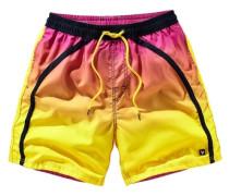 Bunte Badeshorts gelb / orange / pink