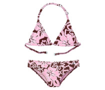 Triangel-Bikini braun / rosa