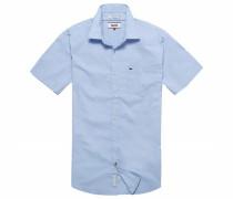 Hemd 'thdm Basic Stretch Shirt S/S 57' hellblau / lavendel