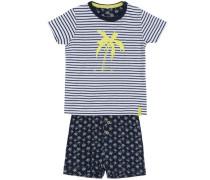 Shorts-Set 'nitderry' nachtblau / gelb / weiß